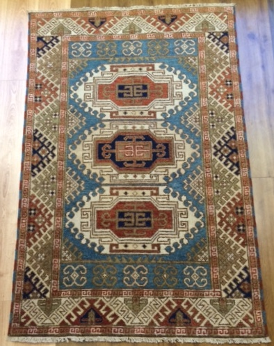 Kazak Hand Knotted tribal design wool rugs