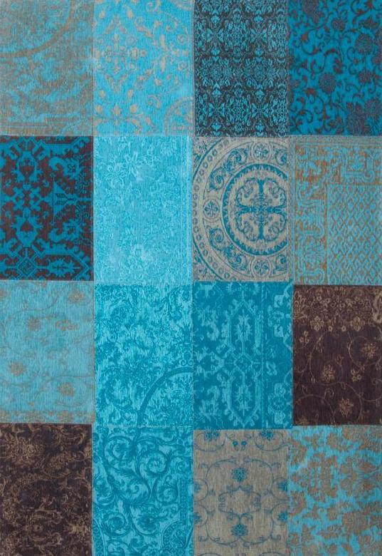 8105 Turquoise Multi Patchwork Rug