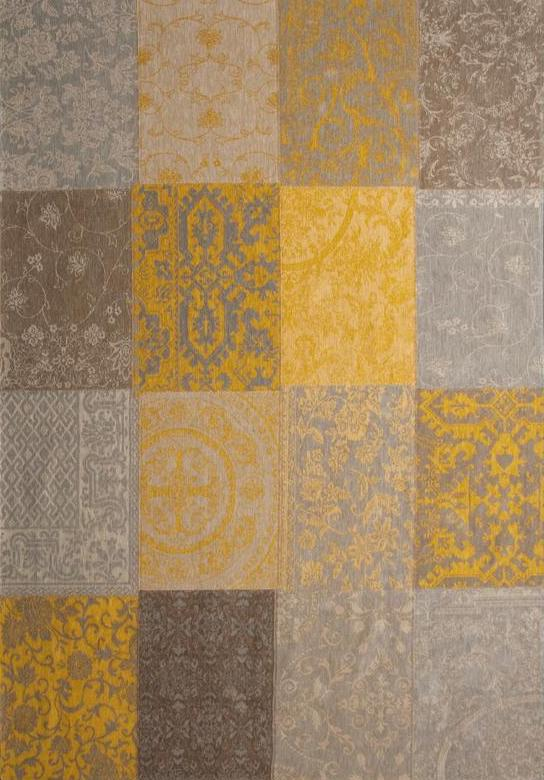 8084 Yellow Multi Patchwork Rug