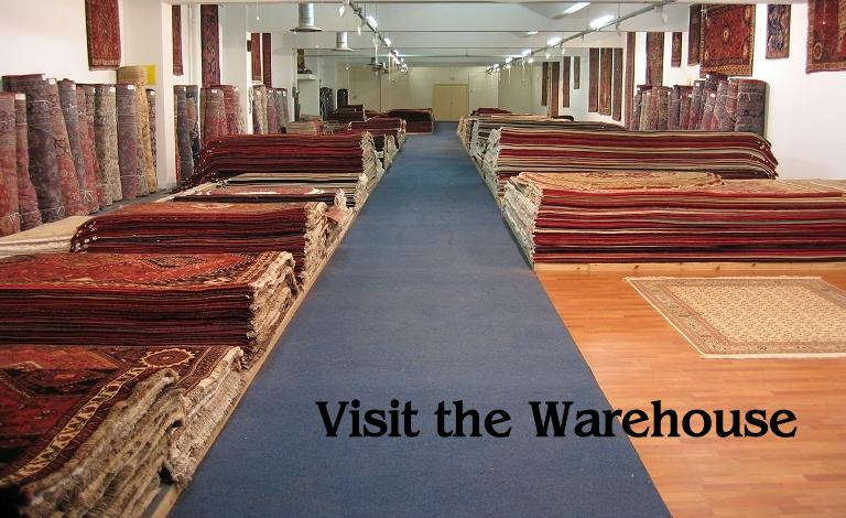 Visit the warehouse and select your own hand made rug.