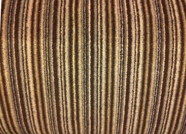 brown biege stripe carpet