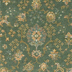 green palmette broadloom